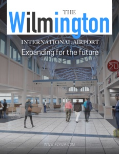 Wilmington International Airport brochure cover.