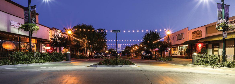 Yucaipa, California uptown street view.