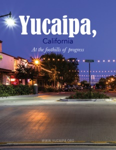 Yucaipa, California brochure cover.