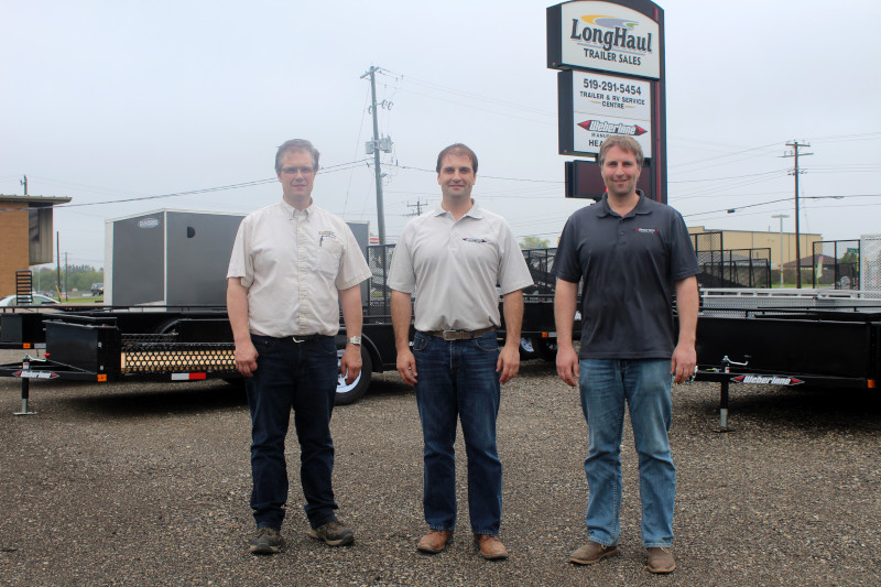 Weberlane Manufacturing Inc. photo of the three brothers who own the company.