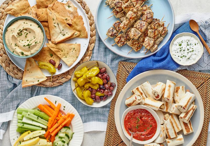 TAZIKIS Mediterranean Cafe example of food.