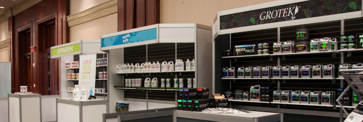 Greenstar Plant Products Inc. Products on shelves in a store.