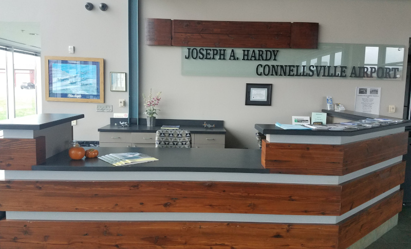 Joseph A. Hardy Connellsville Airport Counter.