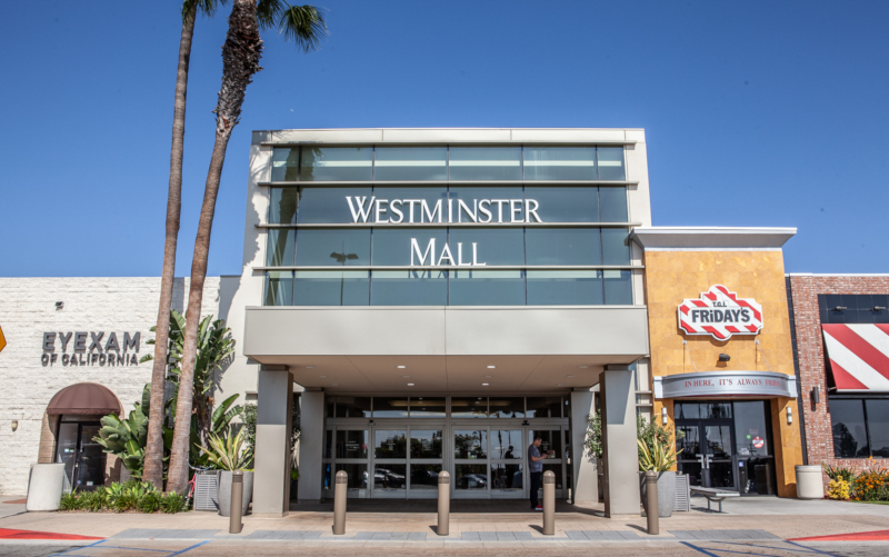 Westminster, California Westminster Mall entrance.