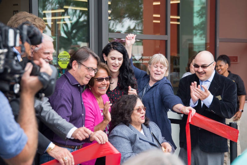 San Pablo, California ribbon cutting ceremony.
