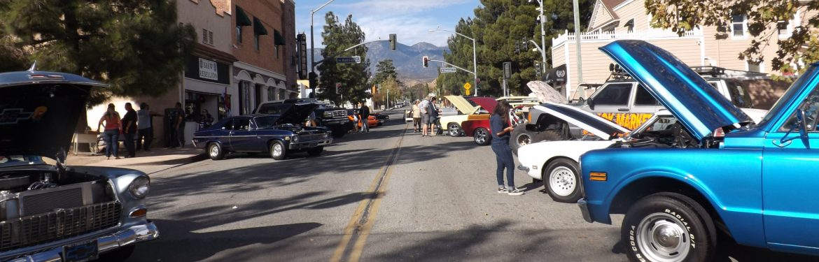 Banning, California Car Show on the street.