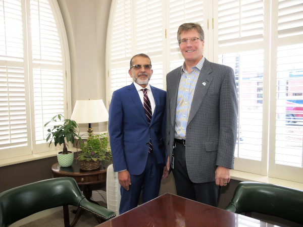 Collingwood, Ontario Mayor Brian Sanderson and CAO Fareed Amin