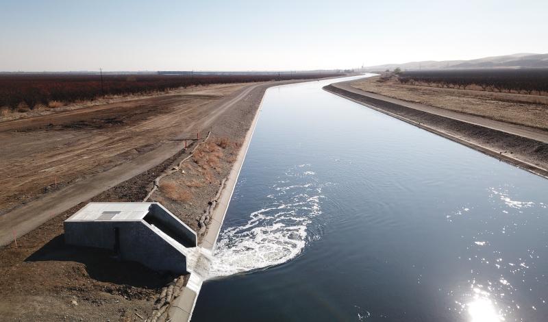 Modesto, California waterway.
