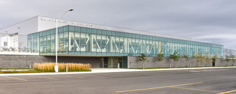 Quinte West, Ontario consolidated operations centre exterior.