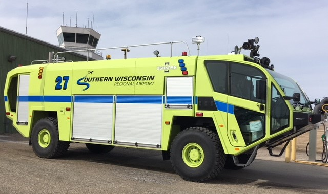 Southern Wisconsin Regional Airport ARFF support vehicle.