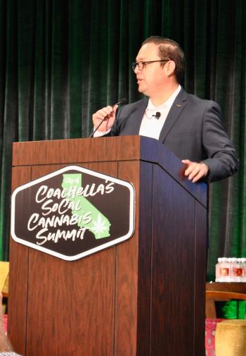 Coachella, California speaker at Cannabis event.