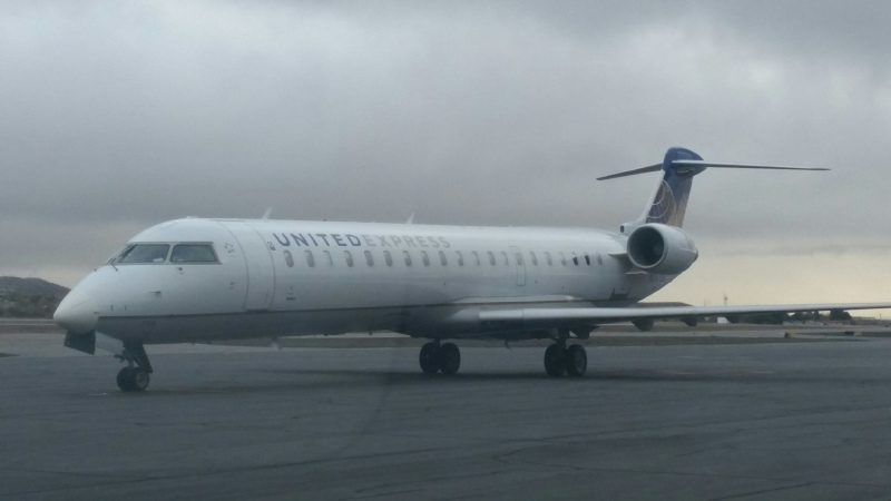 Four Corners Regional Airport Commercial jet.