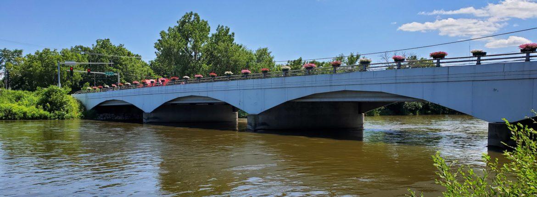Montgomery, Illinois Montgomery Park bridge over water.