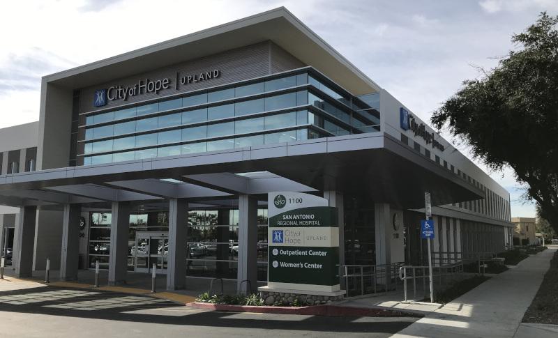 Upland, California hospital entrance.