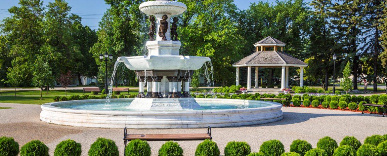 Winkler, Manitoba Bethel Heritage Park Fountain.