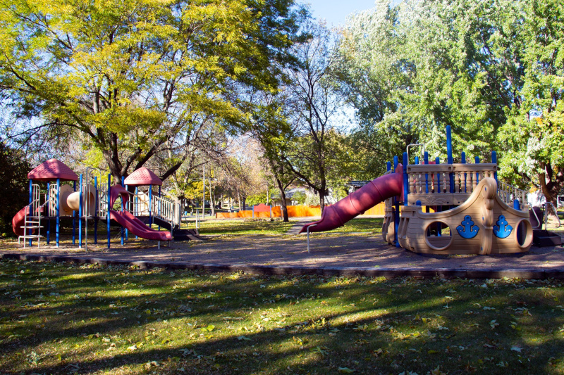 Fridley, Minnesota playground.