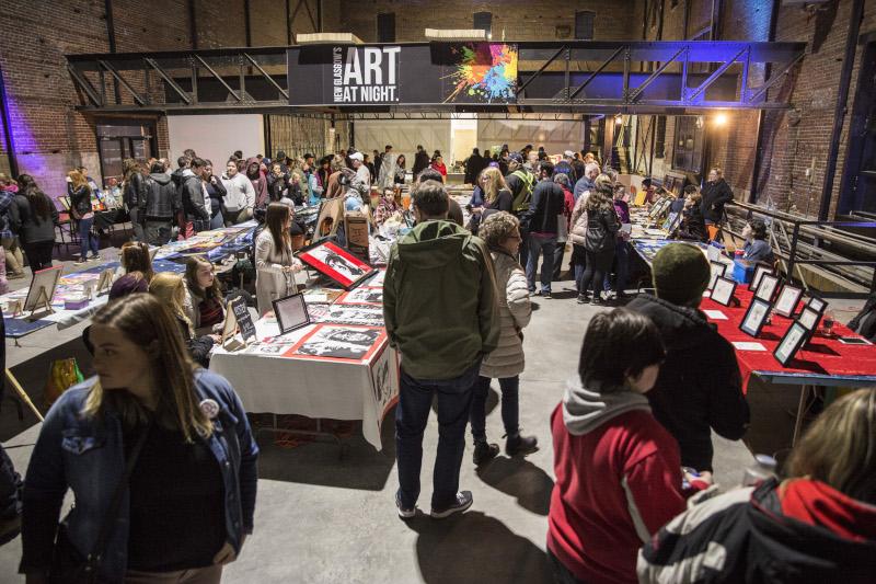 New Glasgow, Nova Scotia Art at Night event.