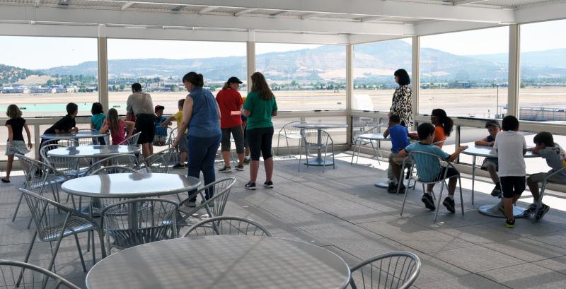 Rogue Valley International-Medford Airport observatin deck.