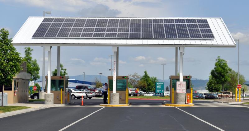 Rogue Valley International-Medford Airport solar panel.