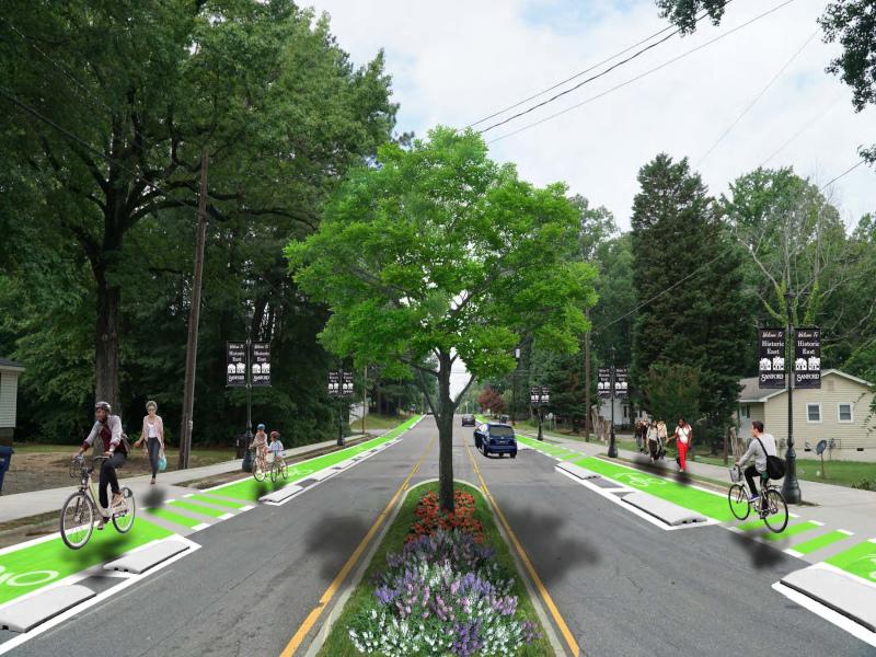 Sanford, North Carolina rendering of charlotte avenue