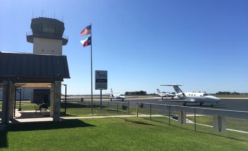New Braunfels Regional Airport airside.