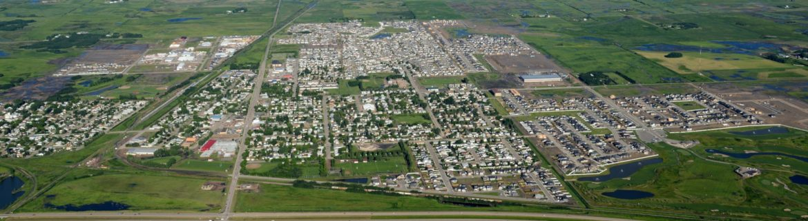 Warman, Saskatchewan aerial view.
