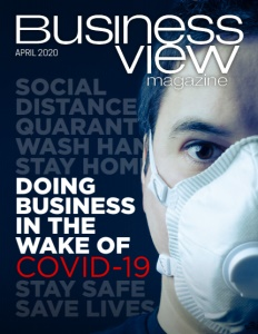 April 2020 issue cover for Business View Magazine