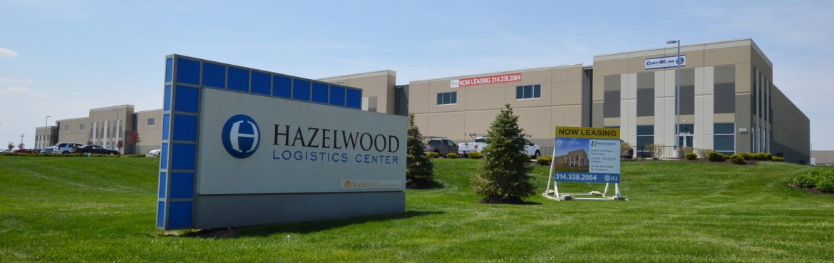 Hazelwood, Missouri Hazelwood Logistics Center sign and building.