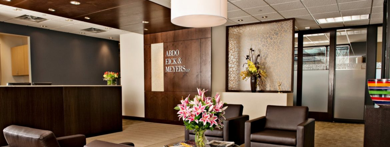 Abdo, Eick & Meyers LLP office interior.