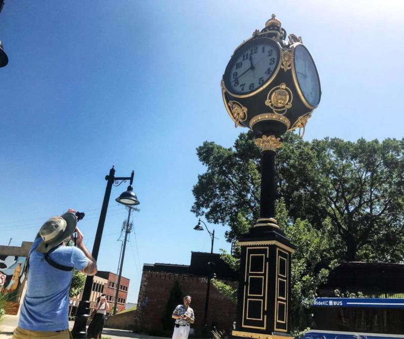 Kansas City, Kansas ornate clock.