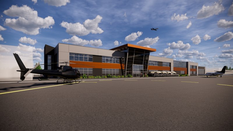 Pitt Meadows, British Columbia new YPK terminal building