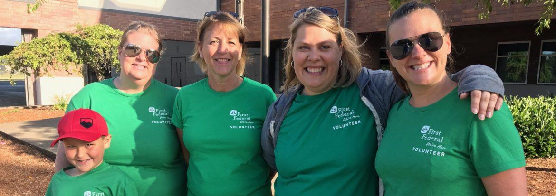 First Federal Savings & Loan Habitat 4 Humanity Volunteers.