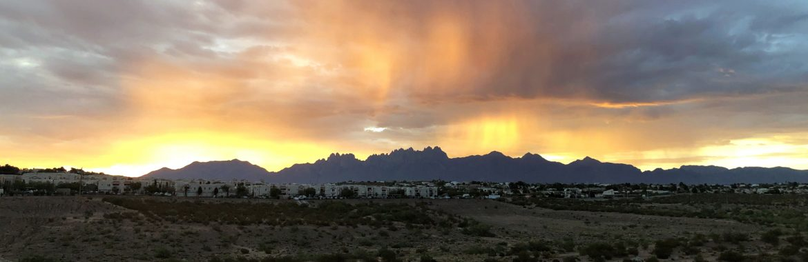 Las Cruces, New Mexico Organ Mountains at sunset.