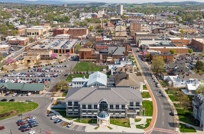 Harrisonburg Virginia aerial