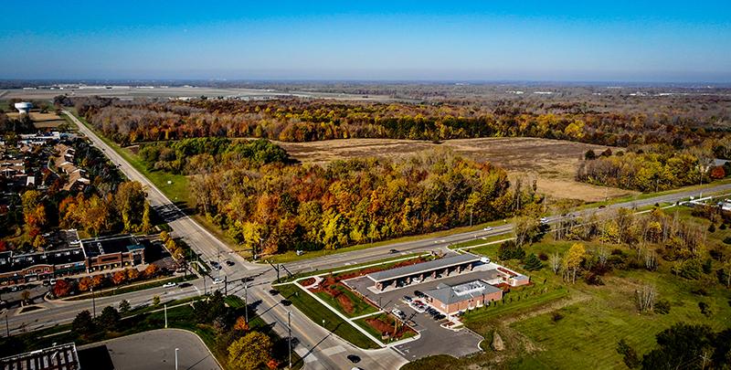 Van Buren Township MI Aerial
