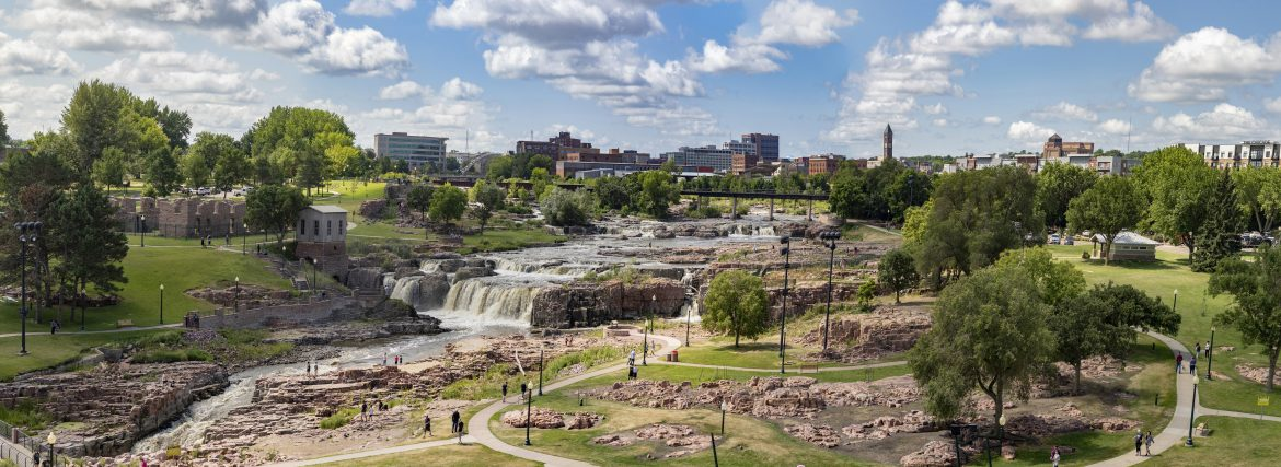 sioux falls park waterfalls