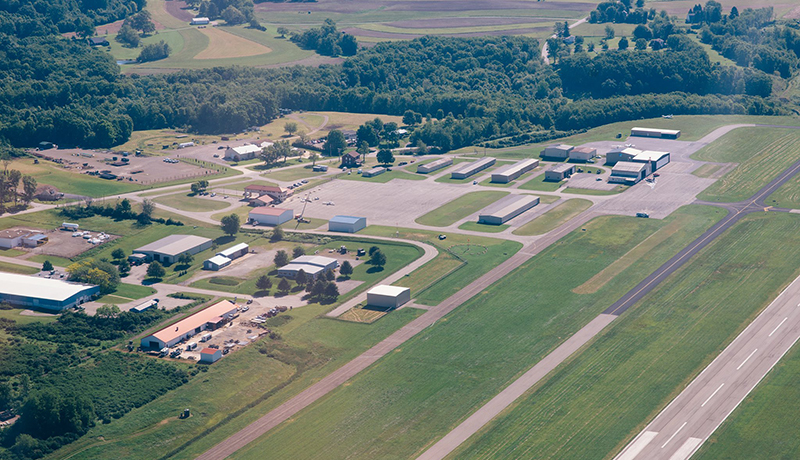 Indiana County Jimmy Stewart Airport aerial