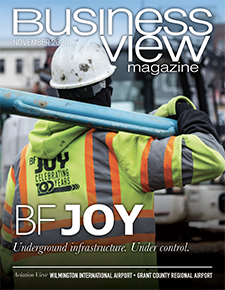 Novemeber 2020 issue cover for Business View Magazine