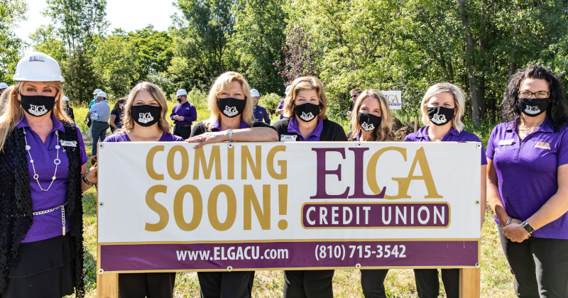 Elga Credit Union Management Team Grand Blanc Groundbreaking.