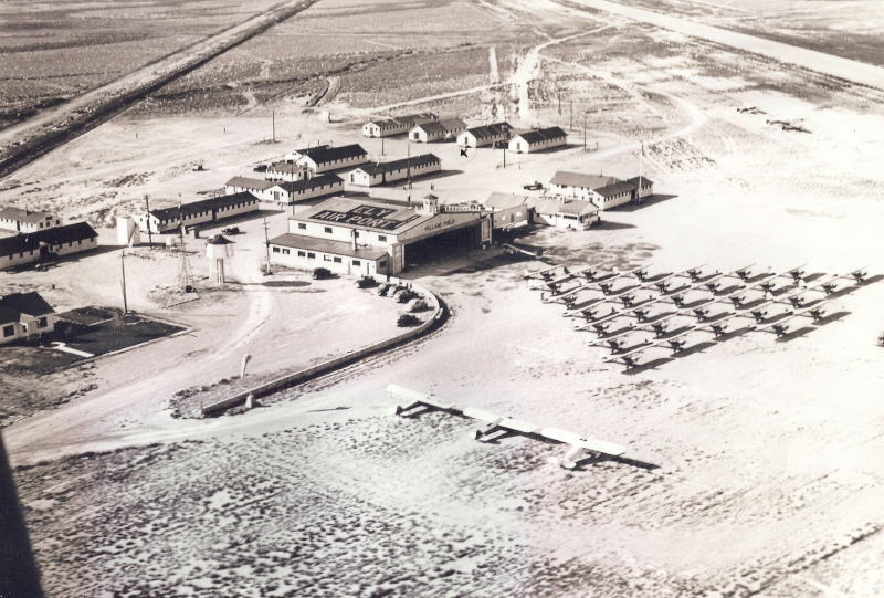 Ely Airport 1943 aerial view.