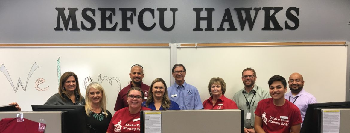 Merced School Employees Federal Credit Union Hawks group photos.