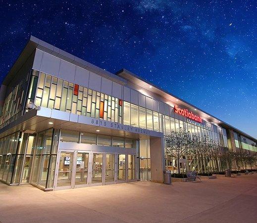 Niagara Falls, Ontario Scotiabank Convention Centre outside night shot