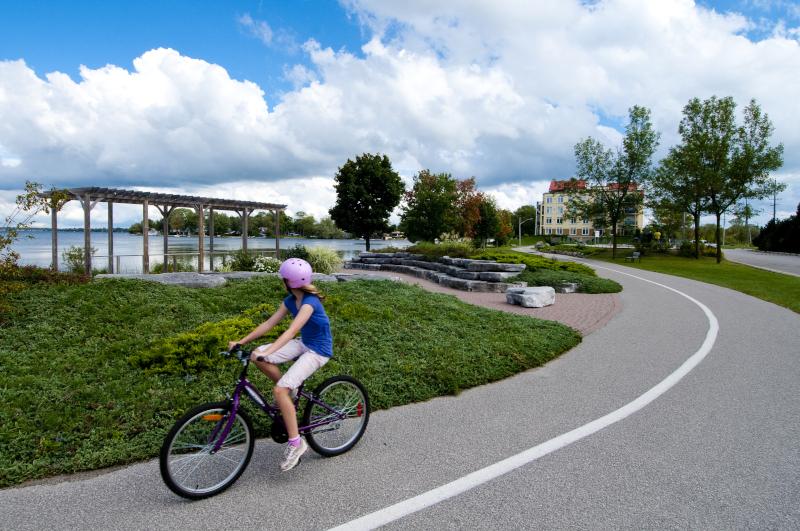Orillia, Ontario Spring bike rider