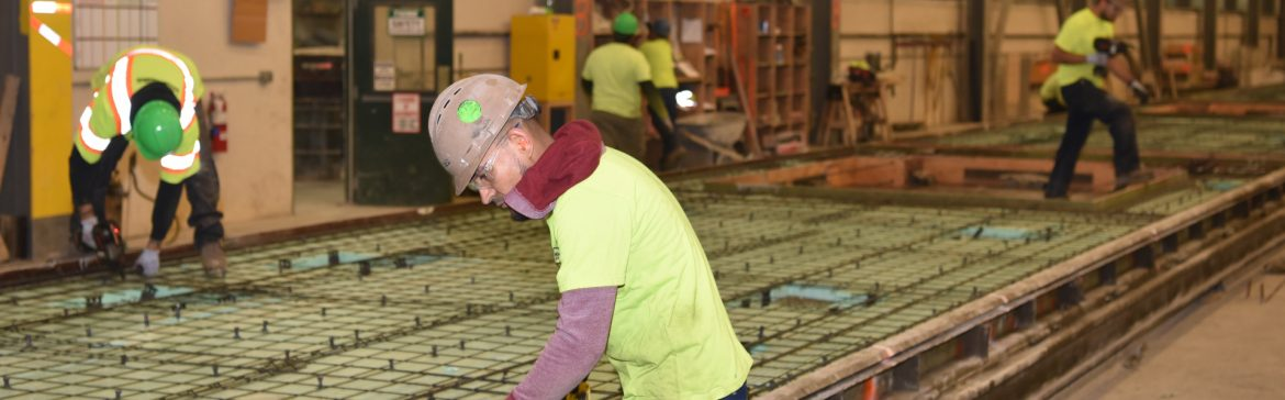Conewago Manufacturing LLC Precast with areas working on rebar