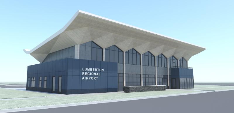 Lumberton Municipal Airport building rendering