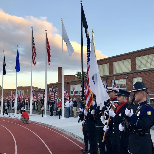 Mansfield, Massachusetts Honor Guard Hero's Corner