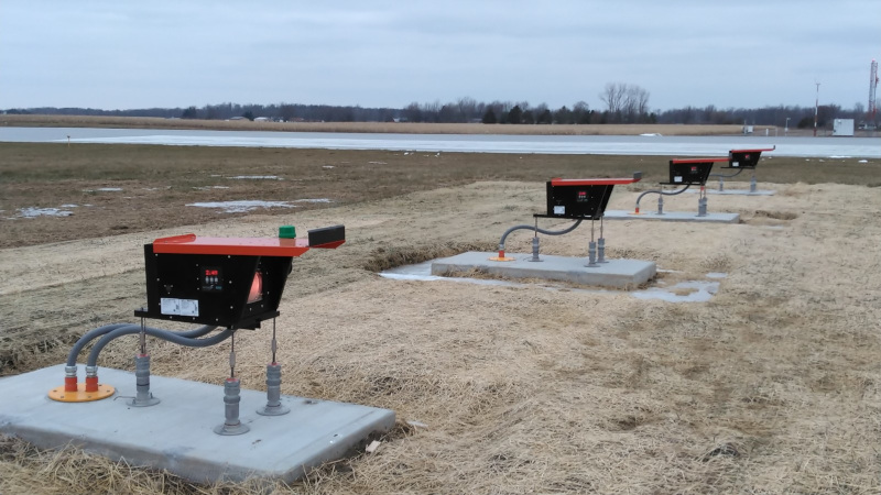 Allen County Airport new runway lights