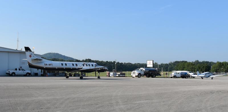 Anniston Regional Airport runway