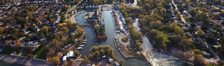 Grimsby, Ontario Forans Marina aerial