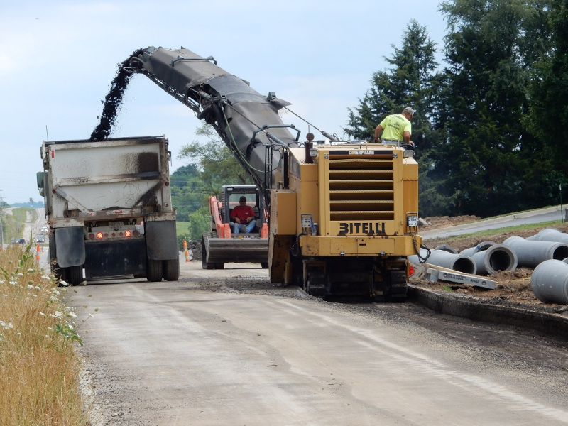 Linaweaver road construction